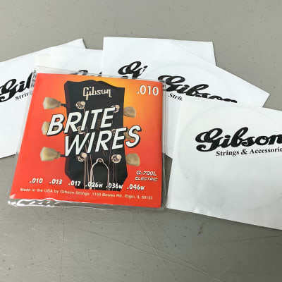 Gibson G-700L Brite Wires Electric Light Gauge Strings Case Candy 1980's