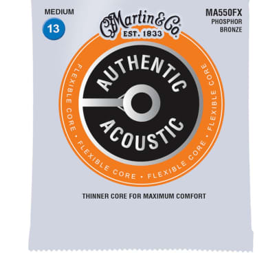 Martin MA550FX Flexible Core Phosphor Bronze Acoustic Guitar Strings .013-.056