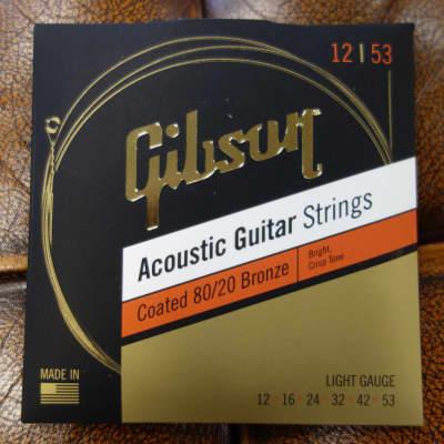 Gibson SAG-CBRW12 Coated 80/20 Bronze Acoustic Guitar Strings Light