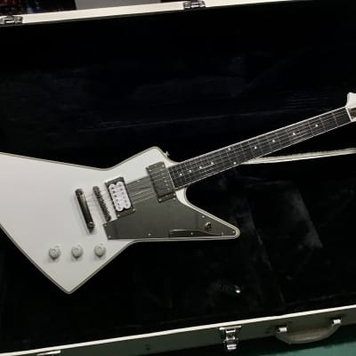 Epiphone Epiphone Tommy Thayer Explorer with signed COA and HSC White Case 2017 Metallic White for sale
