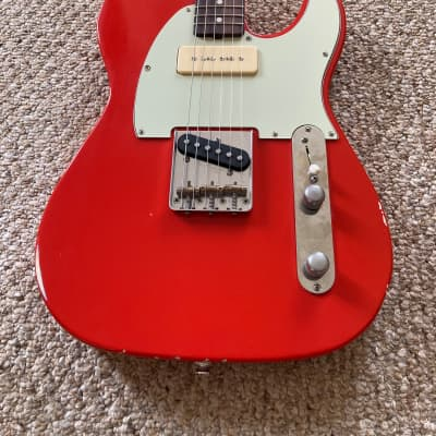 Brown Bear Guitars Telecaster w McNelly pickups Fieta red light relic for sale