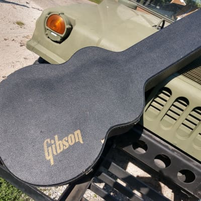 Gibson Gibson J200, L5 or Jumbo Case 1980's? Black Tolex Blue Plush for sale