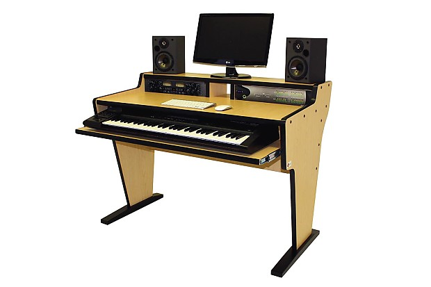 Terrific Bazel Studio Desk Spike 61 Workstation Desk Maple Home Interior And Landscaping Eliaenasavecom