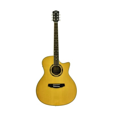 J&D Acoustic Electric Guitar, Solid Spruce Top, Rosewood Body, Cutaway Body, by CNZ Audio for sale