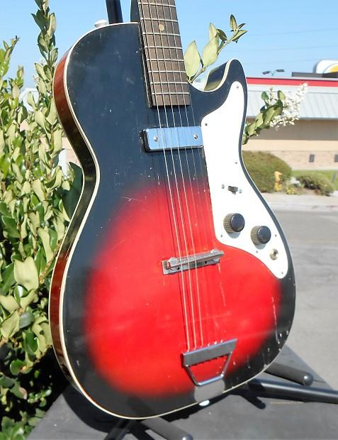 Harmony Stratotone Holiday H45 1961 Red Burst Reverb