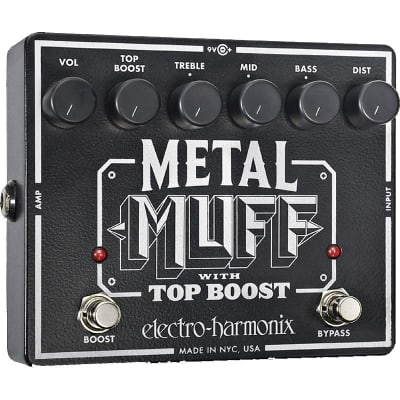 Electro-Harmonix Metal Muff Distortion With Top Boost Pedal