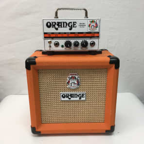 "Orange MT20 Micro Terror 20-Watt 1x8"" Guitar Half Stack"