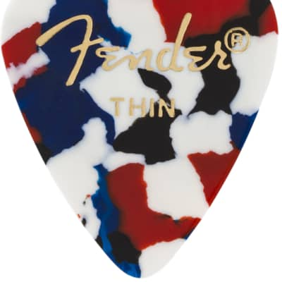 Fender 12 Pack of 351 Shape Thin Guitar Picks, Confetti for sale