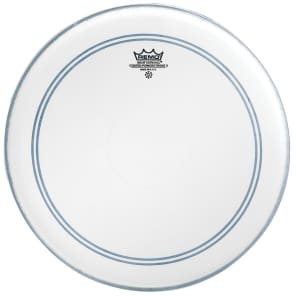 Remo Powerstroke P3 Coated Top Clear Dot Drum Head 18""