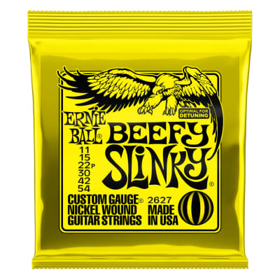 Ernie Ball Beefy Slinky Nickel Wound Electric Guitar Strings - 11-54 Gauge 2627