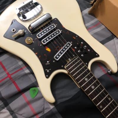 Norma  EG-411 1960s White and tortoiseshell MIJ guitar SUPER RARE... Duster duster duster for sale