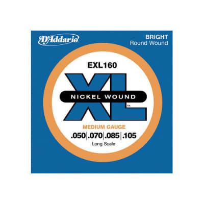 D'Addario EXL160 Nickel Wound Bass Strings Medium Gauge/Long Scale 50-105