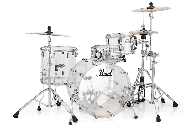 pearl crystal beat acrylic drum set 20 12 14 ruby red reverb. Black Bedroom Furniture Sets. Home Design Ideas