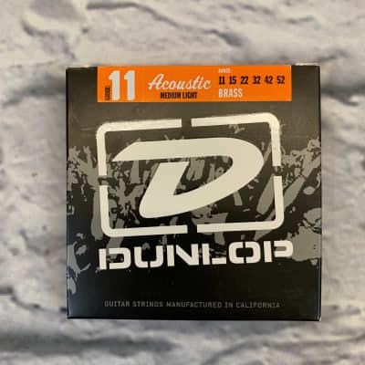 Dunlop Acoustic Medium Light Brass Strings 11-52