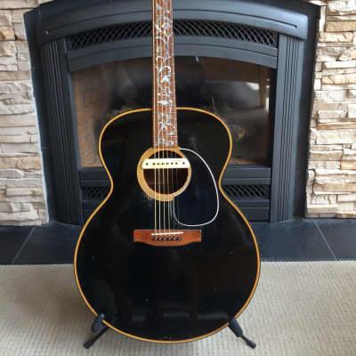 Gibson J-100 Custom Jumbo 1970 Rare Cedar Top Black w/L.R. Baggs M1 Pick-Up for sale