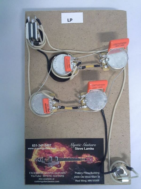 LP Style Pre-Wired Guitar Wiring Harness/Free USA Shipping on
