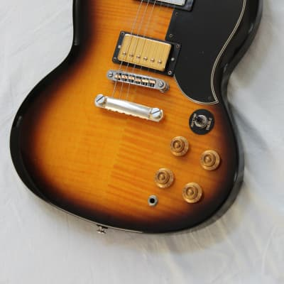 2005 Epiphone G-400 Deluxe SG Korea Guitar Vintage Sunburst Flame Top + Gibson Humbucker Upgrade for sale