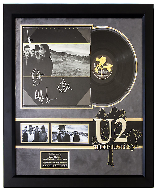U2 The Joshua Tree - Framed Signed Album