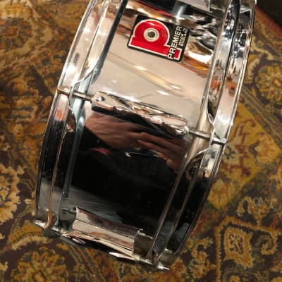 "Premier 8 Lug 14"" metal/chrome Snare (made in England)"