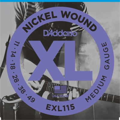D'addario EXL115 Nickel Wound Strings