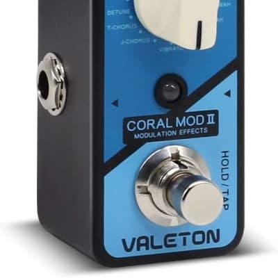 Valeton Coral Mod II Digital Modulation Chorus Flanger Phaser Univibe Tremolo Lofi Multi Effects Gui