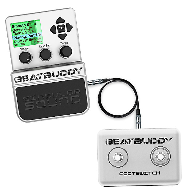 singular sound beatbuddy drum machine pedal beat buddy w reverb. Black Bedroom Furniture Sets. Home Design Ideas