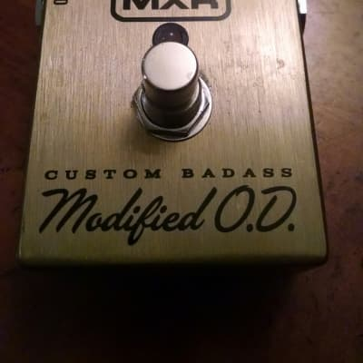 MXR Custom Badass Modified OD  Brushed Annodized Gold