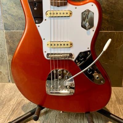 Fantastic Mint Fender Johnny Marr Signature Jaguar Candied Apple Red Rosewood Fingerboard OHSC -0237 for sale