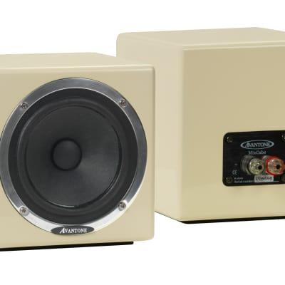 Avantone MixCubes Passive Full-Range Mini Reference Monitors in Butter Creme