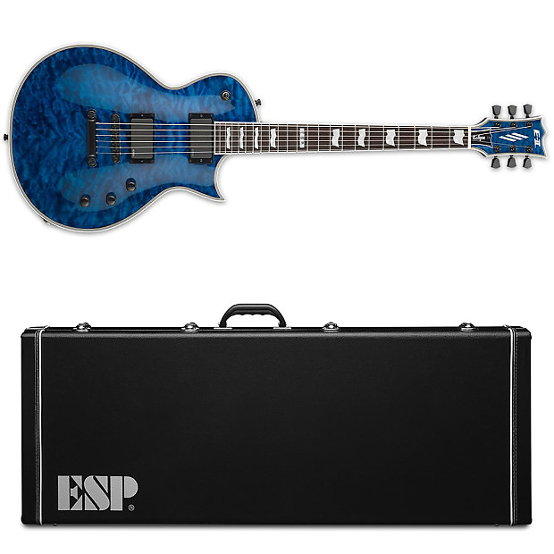 esp e ii eclipse qm marine blue marbl electric guitar new w reverb. Black Bedroom Furniture Sets. Home Design Ideas