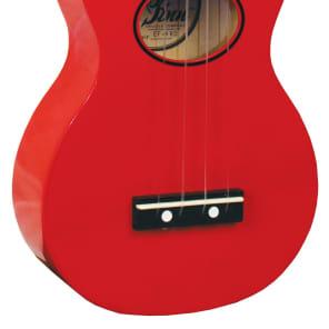 Eddy Finn Minnow Uke with Bag Red for sale
