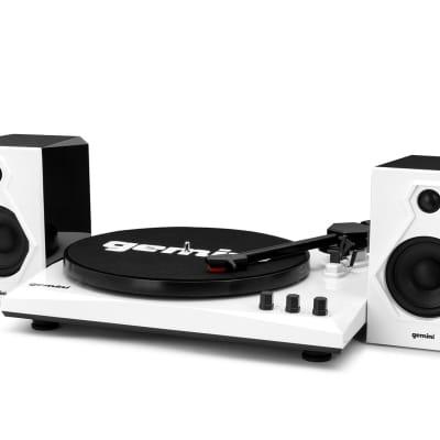 Gemini TT-900 Vinyl Record Player Turntable w/Bluetooth+Dual Speakers TT-900BW