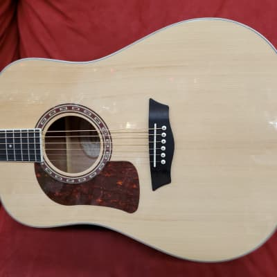 Washburn D10S left Handed  acoustic guitar Natural finish model #HD10SLH-O-U for sale