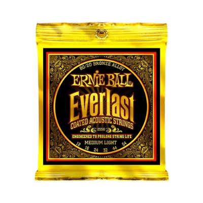 Ernie Ball 2556 80/20 Bronze Alloy Everlast Coated Acoustic Strings Medium Light