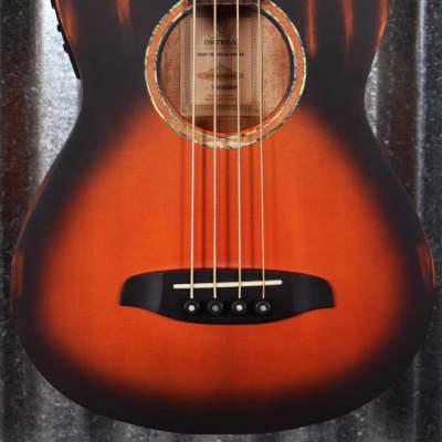 Ortega KT-Walker-V2 Ken Taylor Sunburst Acoustic Electric Short Scale Travel Bass & Bag #8059