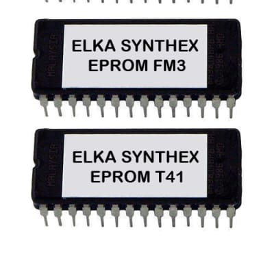 ELKA SYNTHEX SET OF 3 EPROMS WITH O.S FOR SYNTHEX REV 2 / 3 WITH MIDI