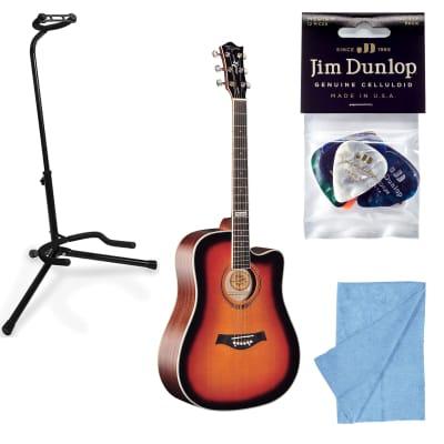 Tagima Guitars America Kansas Acoustic Guitar, Sunburst w/ Stand, Cloth, Picks for sale