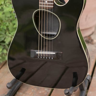 Kramer USA KFT-2 Ferrington 1988 Black Telecaster shape acoustic electric for sale