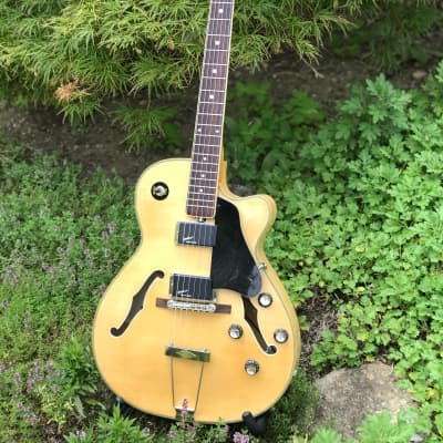 Rare 1979 Eston Six-string Hollow Body by EKO with Original Chipboard Case  Natural Maple for sale
