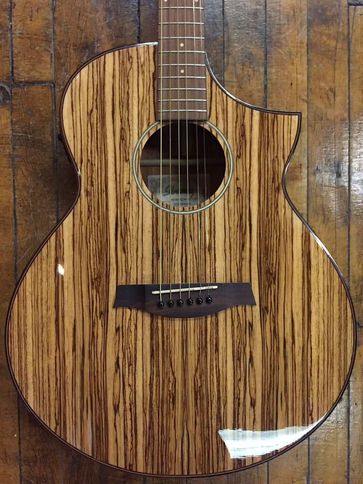 Ibanez Exotic Wood Aew40zw Nt Acoustic Electric 2017 Natural Zebrawood