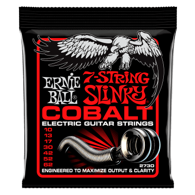 Ernie Ball Cobalt 7 String Skinny Top heavy Bottom Slinky Guitar Strings 10-62