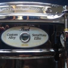 "Pearl 5""x14"" Brass Sensitone Snare Drum 2016 Black Nickel Over Brass"