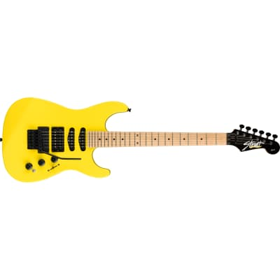Fender Limited Edition HM Strat Guitar, Maple Fingerboard, Frozen Yellow