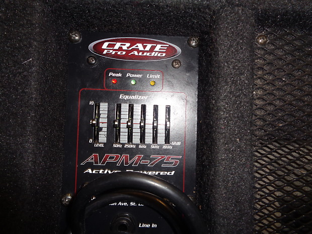 Description; Shop Policies. Used Crate Pro Audio APM 75 Powered Floor  Monitor.