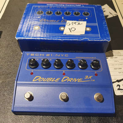 Dave Mustaine's personally owned Megadeth Tech 21 Double Drive 3x Guitar Pedal with signed COA