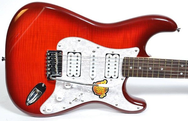 fender squier classic vibe deluxe strat hsh flame top reverb. Black Bedroom Furniture Sets. Home Design Ideas