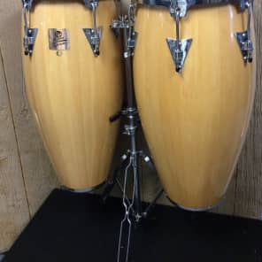 "Latin Percussion LPA647-AW Aspire Series 11/12"" Conga Set w/ Stand"