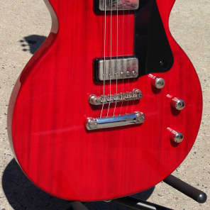 HOFNER DOUBLE CUT SOLID BODY - TRANS CHERRY