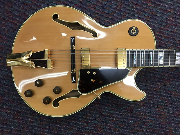 ibanez archtop semi hollow body electric guitar gb10 nt reverb. Black Bedroom Furniture Sets. Home Design Ideas