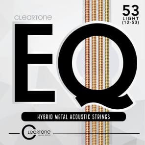 Cleartone 7812 EQ Hybrid Medal Acoustic Guitar Strings - Light (12-53)